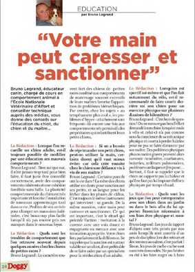 article par Bruno Legrand dans le magazine Doggy